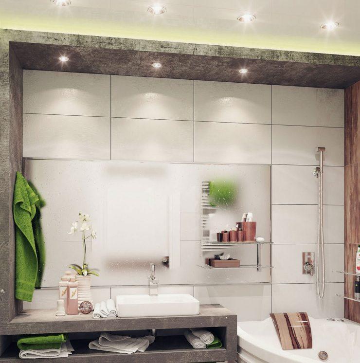 Точечное освещение в ванной