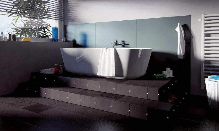 Подсветка подиума с ванной