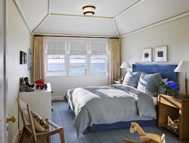 Освещение спальни в морском стиле