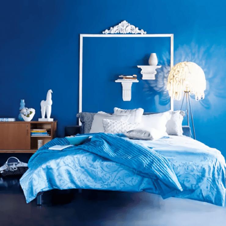 Освещение в синей спальне