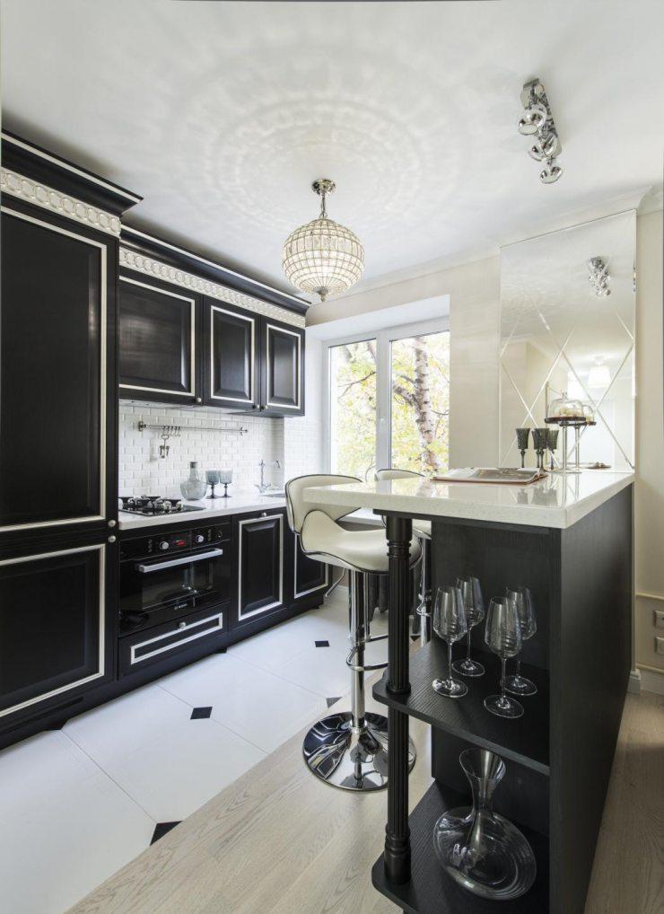 Кухонный гарнитур студии в стиле ар-деко