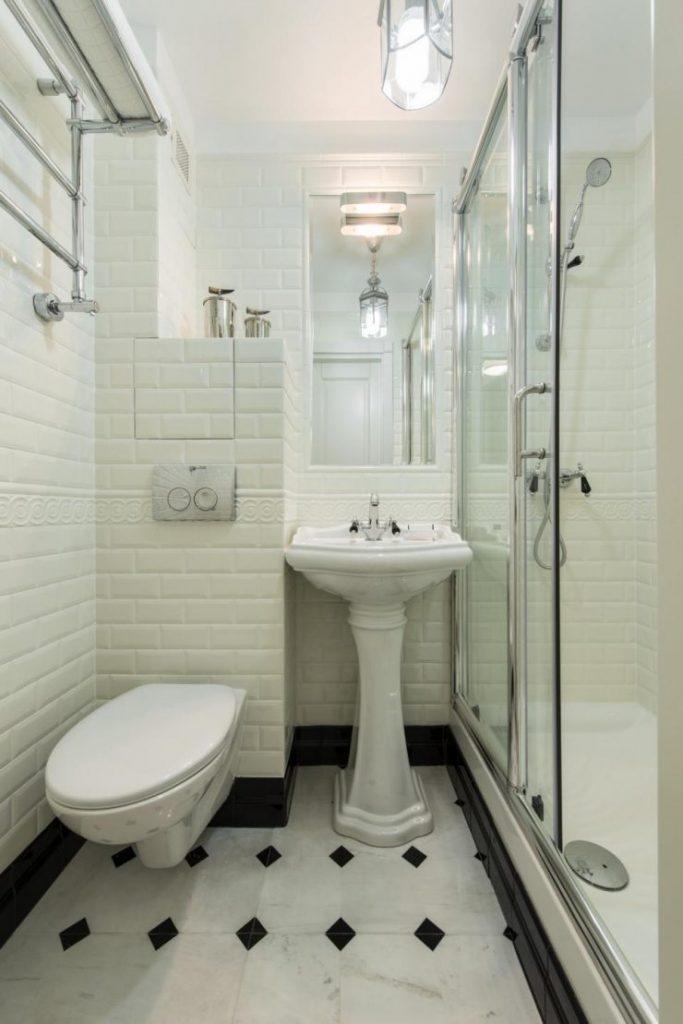 Ванная студии в стиле ар-деко