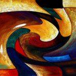 Абстрактная картина в стиле ар-деко