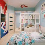 Светлый интерьер комнаты ребёнка