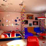 Вариант зонирования в детской комнате