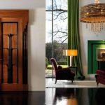 Дверь из дерева и металла в стиле ар-деко