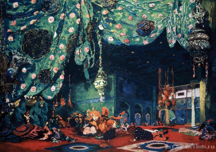 Эскиз декорации в стиле ар-деко