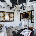 Гостиная в классическом стиле ар-деко