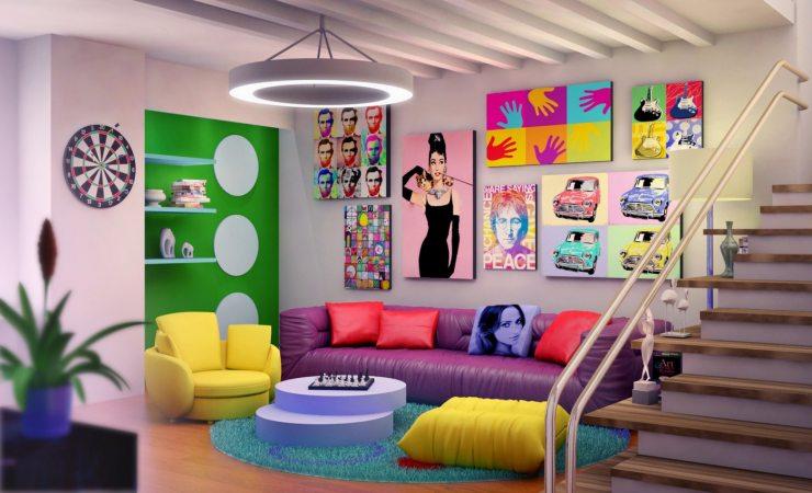 Оформляем интерьер в стиле поп-арт