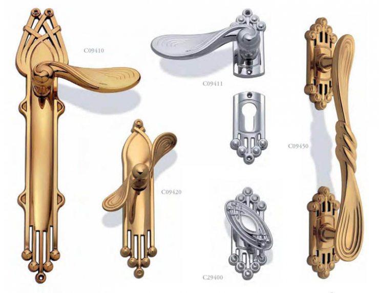 Коллекция дверных ручек в стиле ар-деко