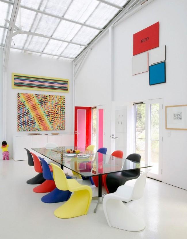 Обстановка столовой в стиле поп-арт
