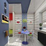 Светлый интерьер кухни