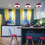 Необычный принт штор для кухни