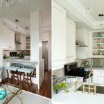 Маленькая кухня в квартире-студии в стиле ар-деко