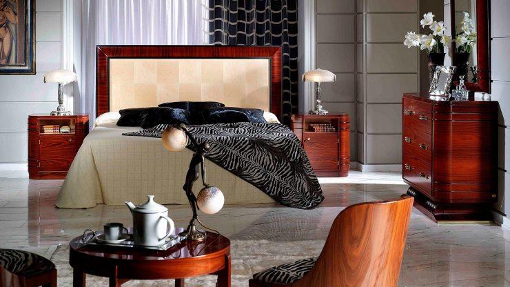Мебель в стиле ар-деко из ценных пород дерева