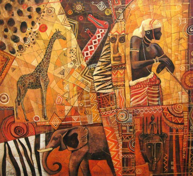 Этническое панно в стиле ар-деко
