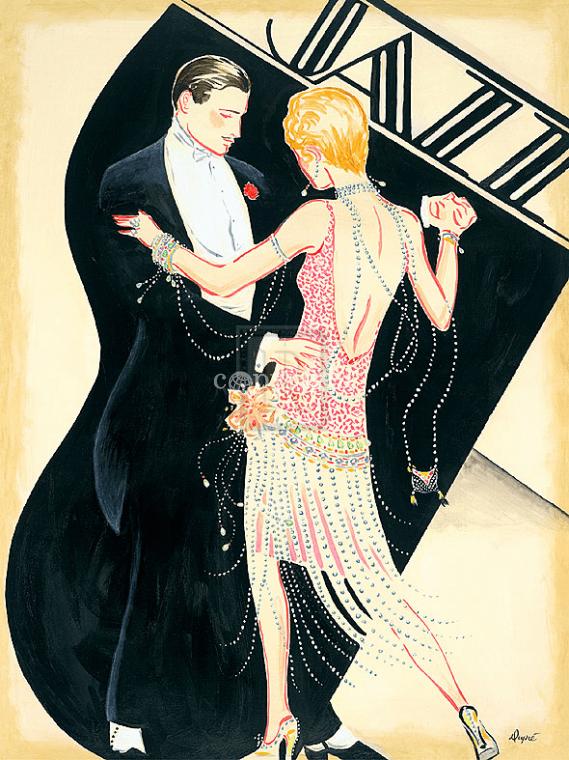 Плакат «Jazz. Jazz» в стиле ар-деко