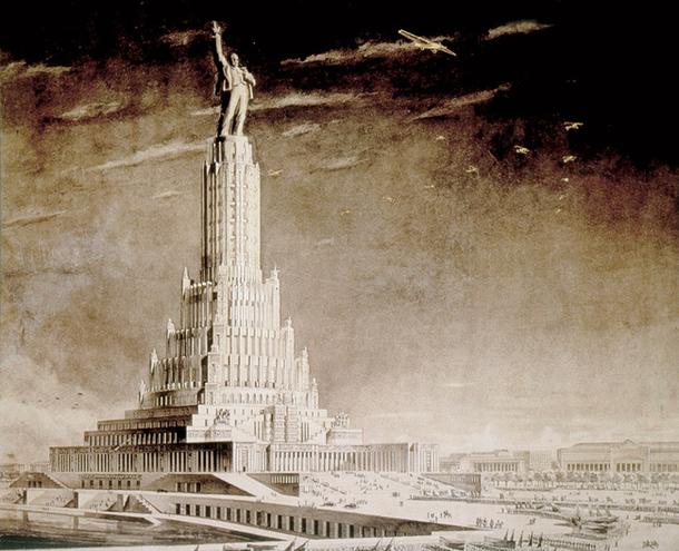 Пример советской архитектуры в стиле ар-деко