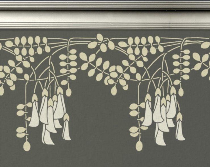 Стилизованный растительный орнамент в стиле ар-деко
