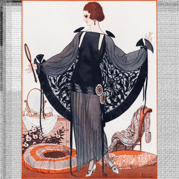 Страница журнала мод в стиле ар-деко