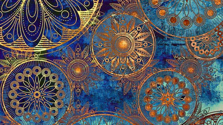 Эскиз обивочной ткани для стен в стиле ар-деко