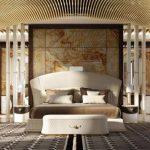 Спальня с неординарным оформлением