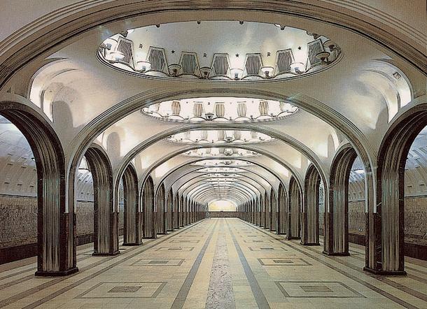 Станция метро «Маяковская» — шедевр ар-деко
