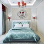 Три цвета спальни в стиле ар-деко
