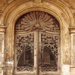 Винтажная двустворчатая дверь в стиле ар-деко
