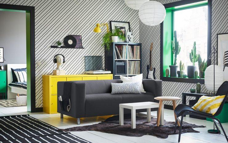 Дизайн гостиной от IKEA