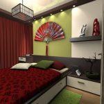 Спальня с веером