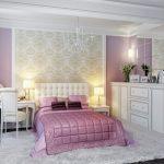 Декор классической спальни с использованием белого тона