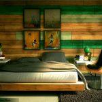 Интерьер спальни в экзотическом стиле