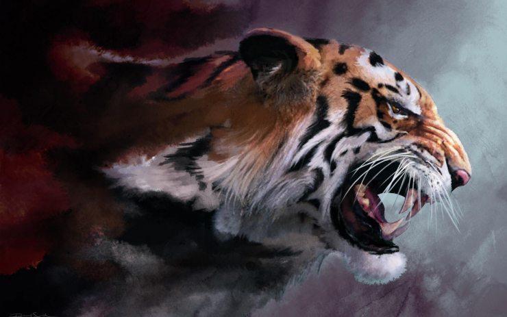 Картина «Разъярённый тигр»