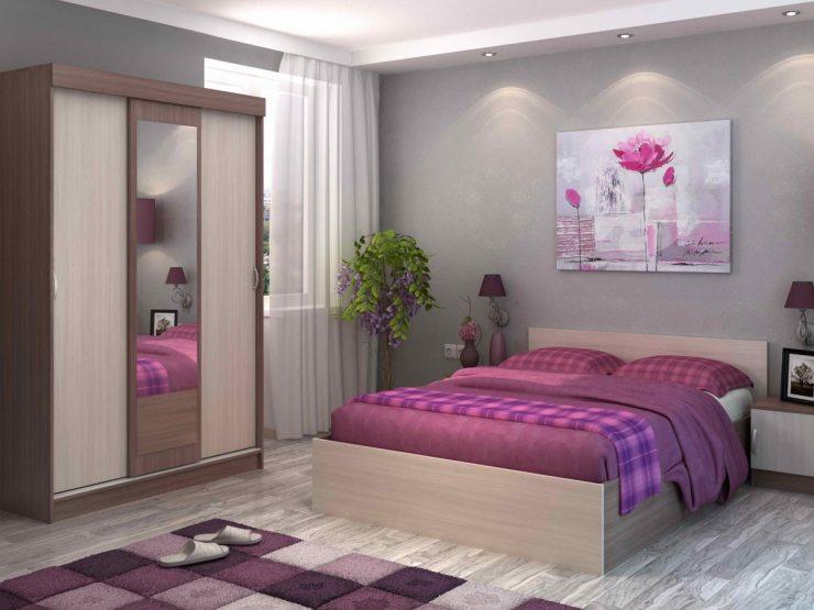Картина-стиль над кроватью