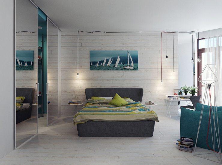 Картина в морском стиле в спальне