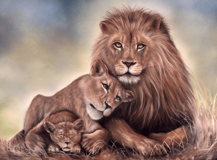 Картина «Львиная нежность»