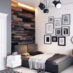 Спальня в чёрно-белых тонах