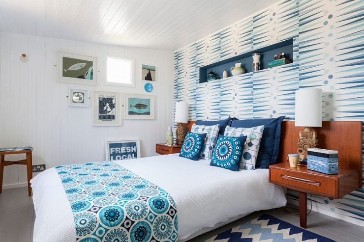 Спальня, оформленная в скандинавском стиле