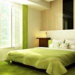 Светло-зелёная спальня