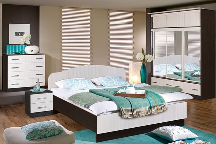 Уютная спальня в светлой цветовой гамме