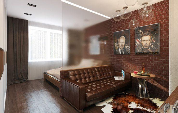 Зонирование спальни с помощью картин