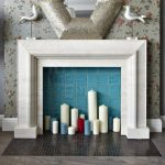 Фальш-камин со свечами