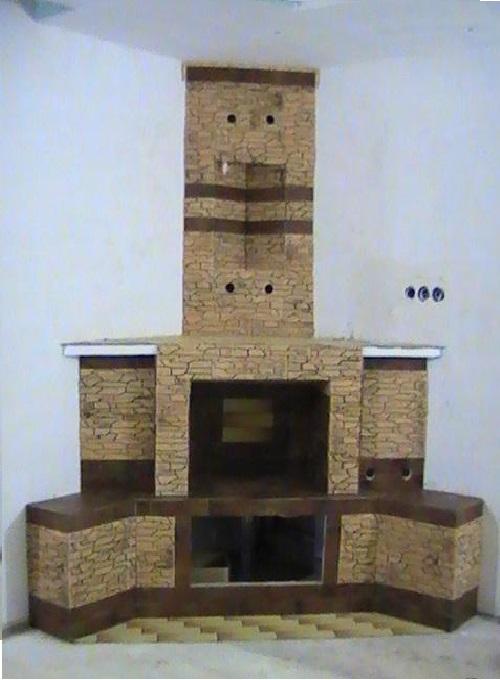 Готовый фальш-камин из гипсокартона