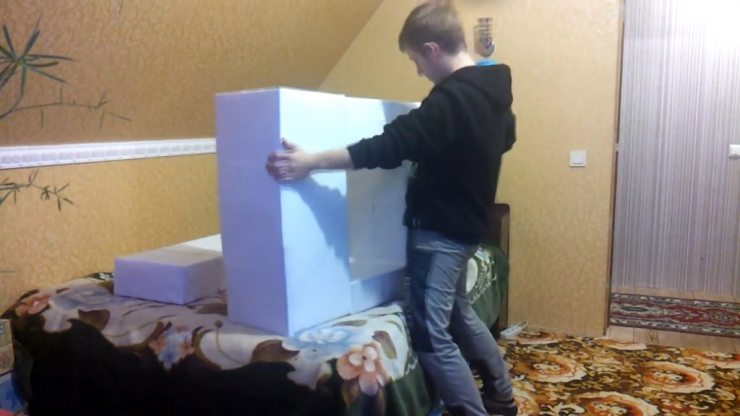 Корпус картонного камина своими руками