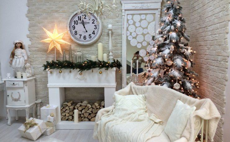 Новогоднее оформление комнаты