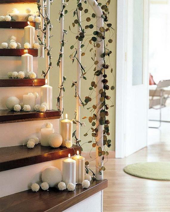 Новогоднее украшение свечей