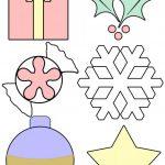 Шаблоны игрушек и снежинок