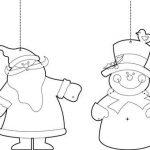Шаблоны снеговика и Деда Мороза