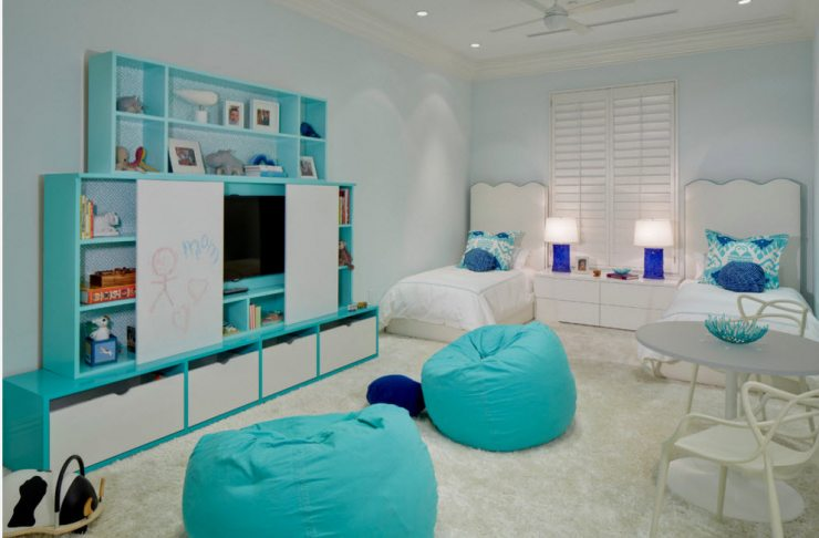 Детская комната в бирюзовых оттенках